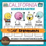 California Kindergarten I Can Statements
