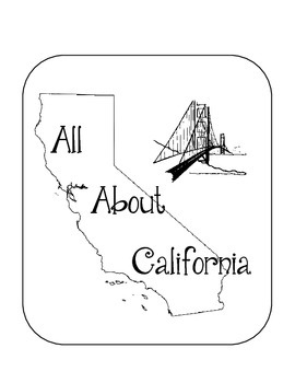 California Lapbook/Interactive Notebook.  Geography.  US State History