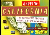 California Map Activity: Fun, engaging follow-along 30-slide PPT w/ map handout