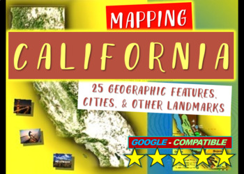California Map Activity: Fun, engaging follow-along 30-sli