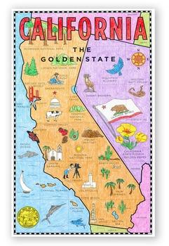 California Map Mural