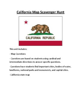 California Map Scavenger Hunt