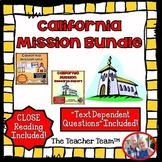 California Mission Bundle with Text Dependent Questions fo