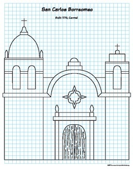 California Mission Drawing Guide By Art Projects For Kids Tpt