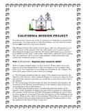 California Mission Project Description and Rubric