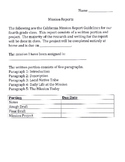 California Mission Report and Project