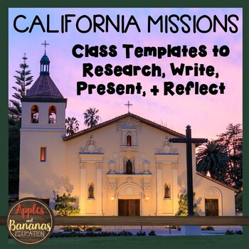 California Missions: Class Templates to Research, Write, Present, and Reflect