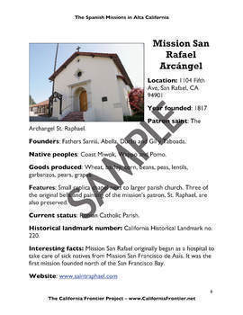 California Missions List and Profiles