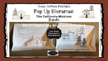 picture relating to Printable Diorama identify California Missions - Printable Pop Up Diorama Craft - All 21 Missions