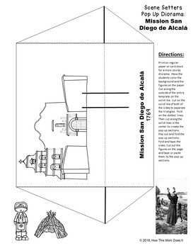California Missions - Printable Pop Up Diorama Craft - All 21 Missions