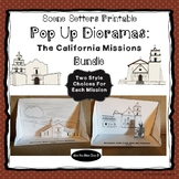 California Missions - Printable Pop Up Diorama Craft - All