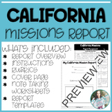 California Missions Project: Report and Scrapbook