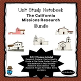 California Missions Research Project Bundle -  All 21 Miss