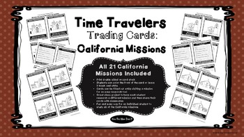 California Missions - Research Trading Cards - All 21 Missions Included