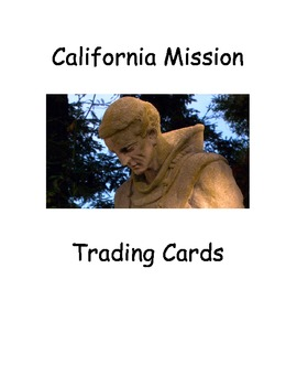 California Missions Trading Cards