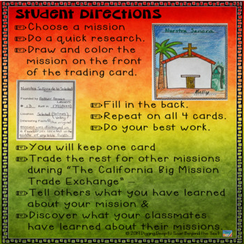 California Missions ~ Trading Cards