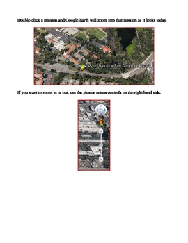 California Missions on Google Earth