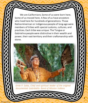 California Native American Indian Series: Tongva/Gabrielino Tribe