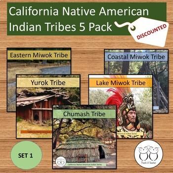 California Native American Tribe 5 Pack Chumash Yurok Lake Miwok...