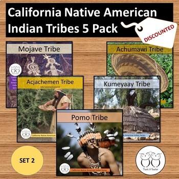 California Native American Tribe 5 Pack Set 2 Mojave Pomo Juaneno...