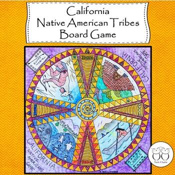 California Native Americans Board Game
