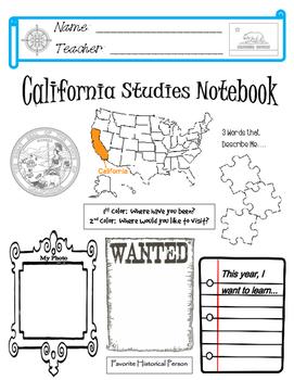California Notebook Cover