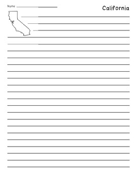 California Outline Lined Paper