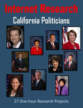 California Politicians (One-hour Internet Research Projects)