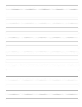 Writing on Lines Paper Practice Templates