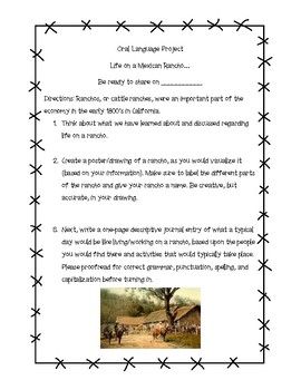 California Rancho Oral Language Project Assignment