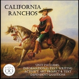 California Ranchos : Text  Writing Activity  Art Project and More!