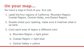 California Regions Activity