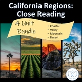 California Regions: Coastal, Mountain, Desert, and Valley Discounted Bundle