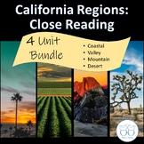 California Regions : Coast Mountain Desert Valley Texts Bu