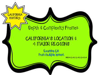 California Regions Depth and Complexity Frames