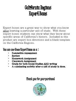 California Regions Expert Boxes