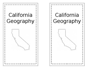 California Regions/Geography Interactive Notebooks