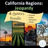 California Regions Jeopardy (Coast, Valley, Mountain, Desert) Discounted Bundle