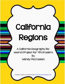 California Regions Poster - Research project