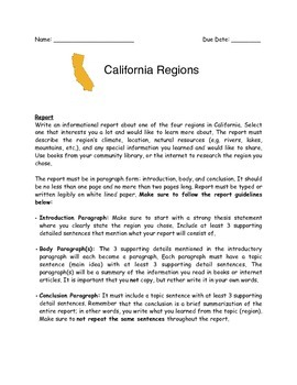 California Regions Report and Visual