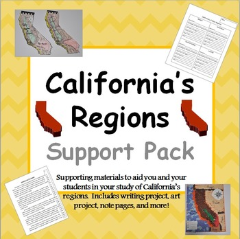 ca region projects teaching resources teachers pay teachers