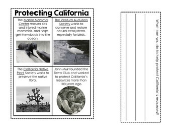California Regions and Resources: Interactive Notebook Pages