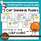 "California Social Studies - ""I Can"" Kindergarten Standards Posters"