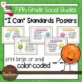California Social Studies Standards - Fifth Grade Posters and Statement Cards