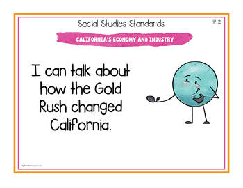 California Social Studies Standards - Fourth Grade Posters and Statement Cards