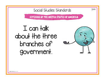 California Social Studies Standards - Third Grade Posters and Statement Cards