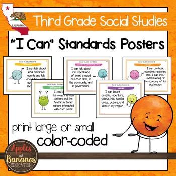 California Social Studies Standards - Third Grade Posters