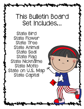 California State Bulletin Board Set.  US State History