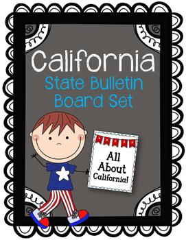 California State Bulletin Board Set.  US State History