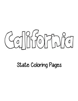 California State Coloring Pages